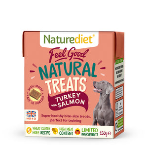 NATUREDIET Feel Good Turkey & Salmon Natural Treats (150g)