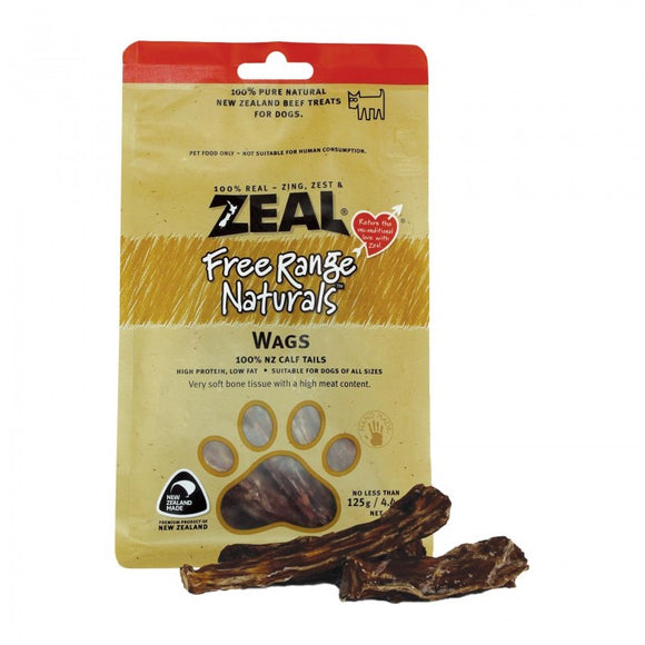 *PROMO* ZEAL Treats: Free Range Naturals Wags (125g)