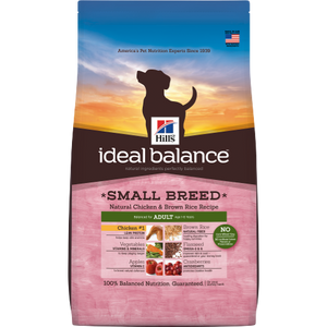 Hill's Ideal Balance Adult Small Breed (1-6 YO) Natural Chicken & Brown Rice Recipe