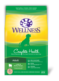 WELLNESS Complete Health Dry Food: Adult Lamb & Barley (5lb/30lb)