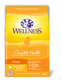 WELLNESS Complete Health Dry Food: Puppy Deboned Chicken, Oatmeal & Salmon Meal (5lb/30lb)