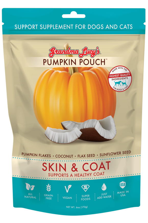 GRANDMA LUCY'S Pumpkin Pouch: Skin & Coat (Supports Healthy Coat) (2oz/170g)