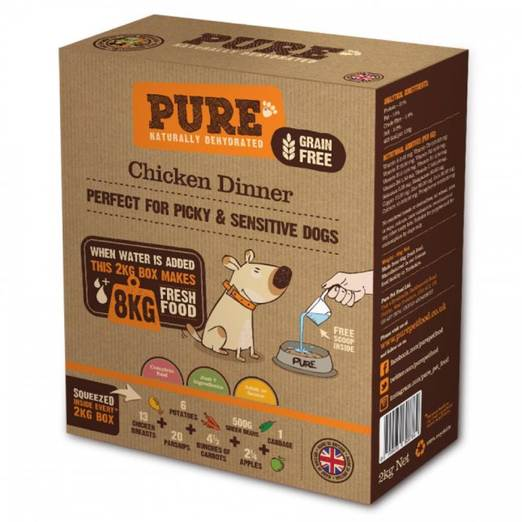 PURE Grain-Free Chicken Dinner Dehydrated Dog Food