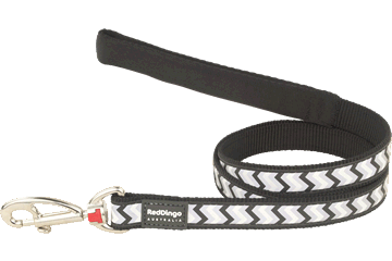 RED DINGO Fixed Dog Leads: Reflective Ziggy Range 1.2m (4 Sizes, 8 Colours)