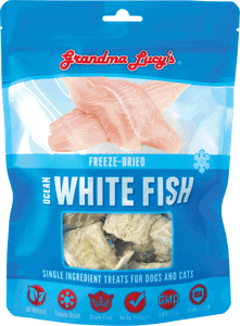 GRANDMA LUCY'S Freeze-Dried Single Ingredient Cat & Dog Treats: Ocean White Fish (2oz)