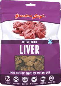 GRANDMA LUCY'S Freeze-Dried Single Ingredient Cat & Dog Treats: Liver (2.5oz)