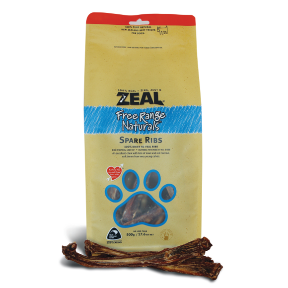 ZEAL Free Range Naturals Spare Ribs (200g/500g)