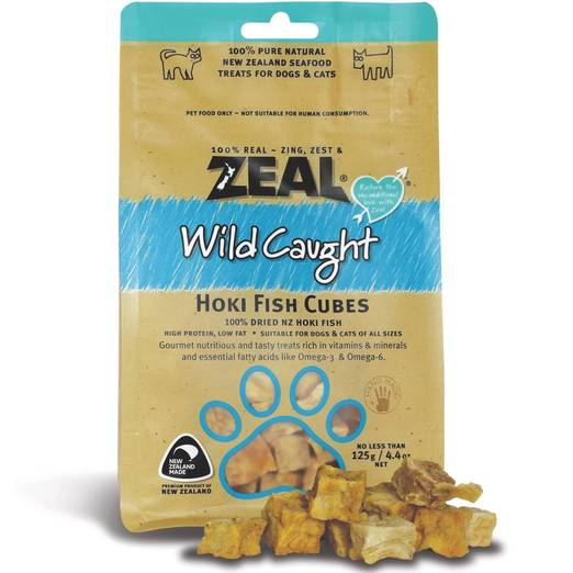 *PROMO* ZEAL Treats: Wild Caught Hoki Fish Cubes (125g)