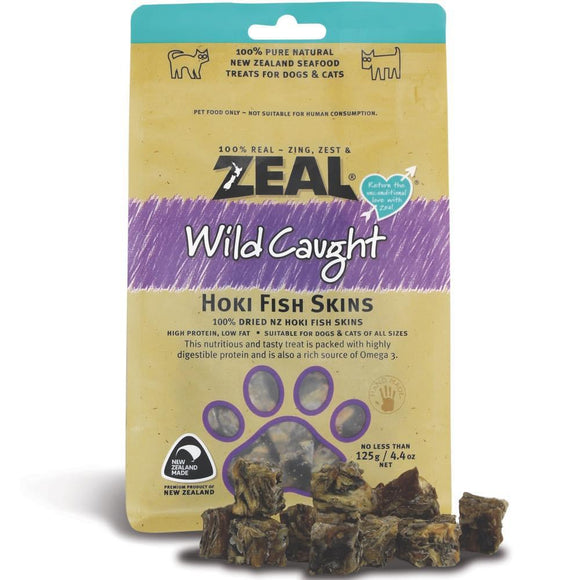 *PROMO* ZEAL Treats: Wild Caught Hoki Fish Skins (125g)