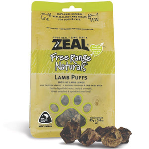 *PROMO* ZEAL Treats: Free Range Naturals Lamb Puffs (85g)