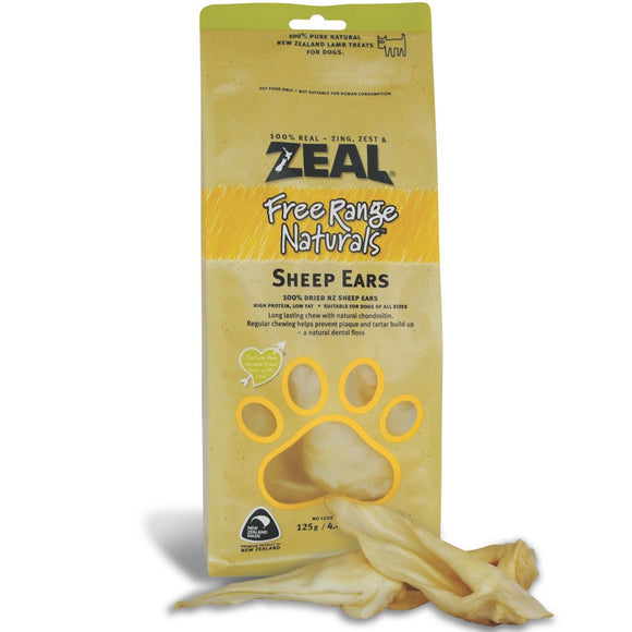 *PROMO* ZEAL Treats: Free Range Naturals Sheep Ears (125g)