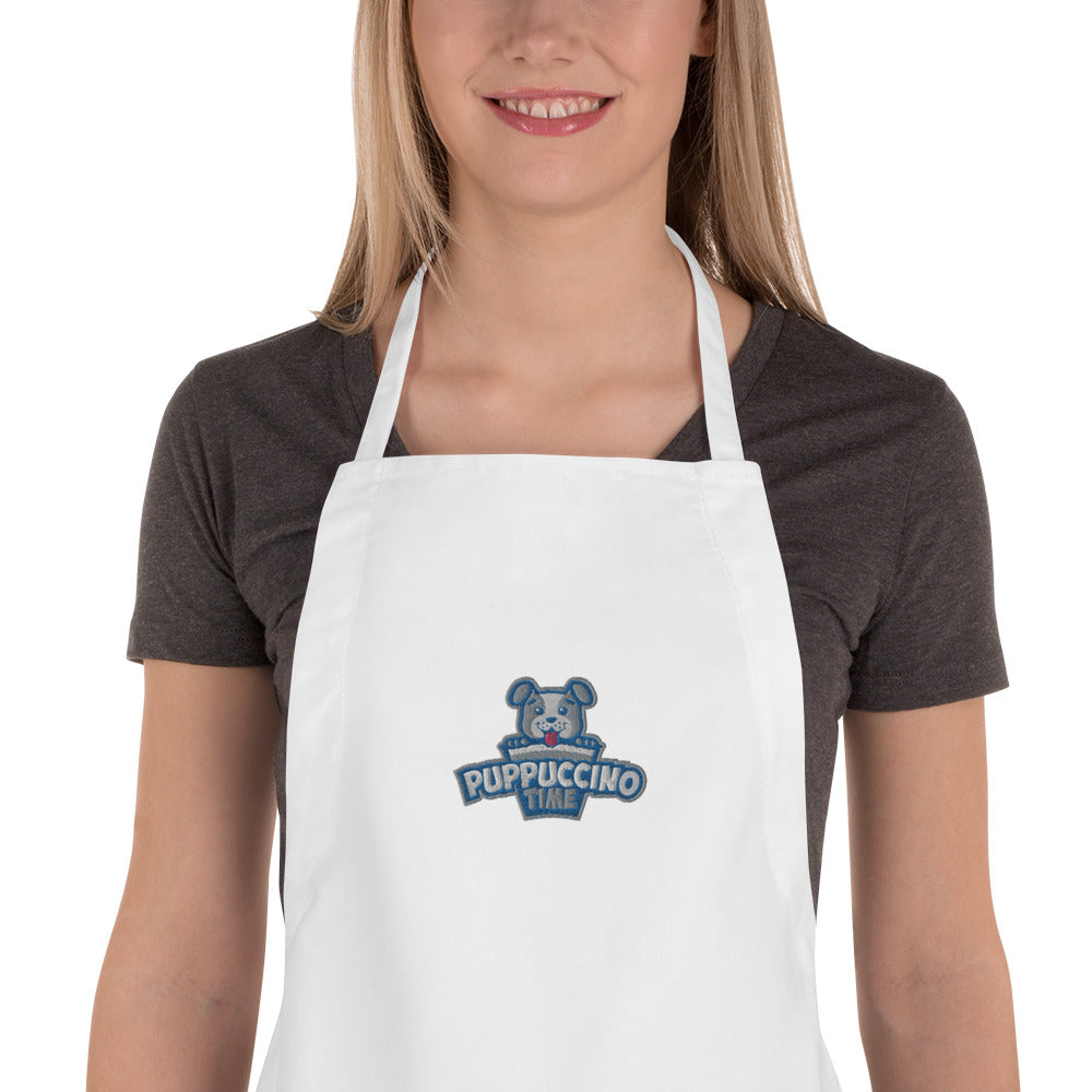 Puppuccino Time Pet Chef Apron by Rocky Kanaka