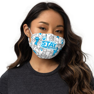 Stay Pawsitive Face Mask by Rocky Kanaka