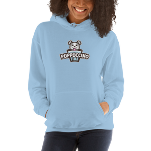 Puppuccino Time Unisex Hoodie by Rocky Kanaka