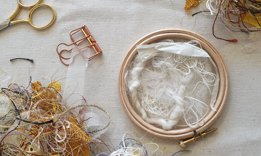 Re-using embroidery 'waste' in a creative way (9 tips!)