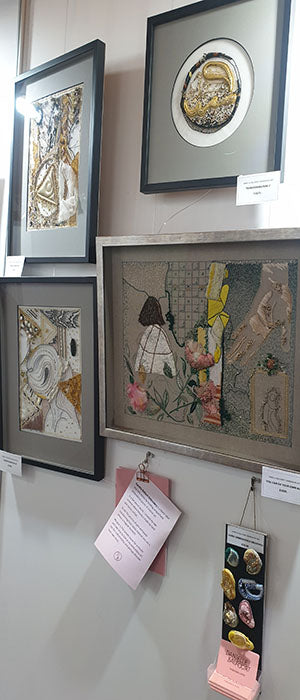 PAF Art fair London 2020 Danielle Balfoort Embroidery art