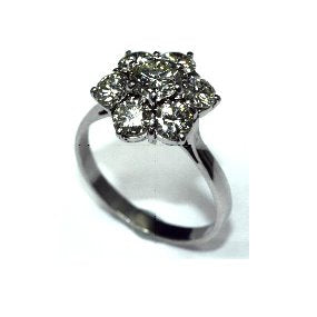 PureBrilliant Diamonds Cluster Diamond Ring