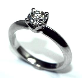 PureBrilliant Diamonds Platinum 0.60ct Diamond Ring