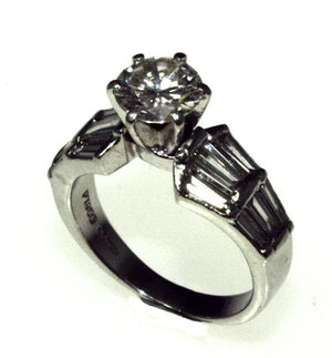 PureBrilliant Diamonds Tyff Style Platinum Diamond Ring