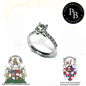 PureBrilliant Diamonds Platinum 1.01ct Diamond Ring