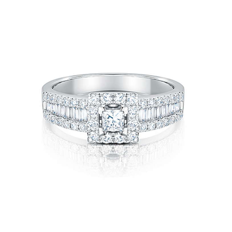 PureBrilliant Diamonds Multi Set Diamond Ring
