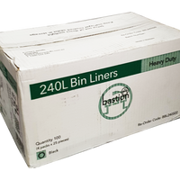 Bin Liners - 240 Litres Heavy Duty - Sprint Cleaning Products