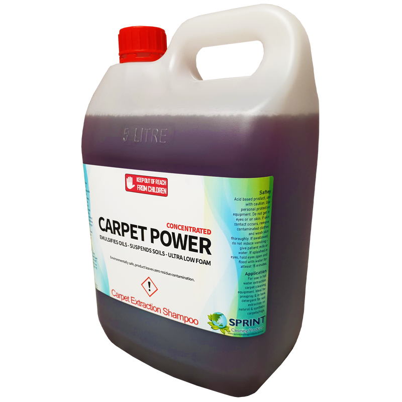 Carpet Power - Extraction Shampoo - Sprint Cleaning Products
