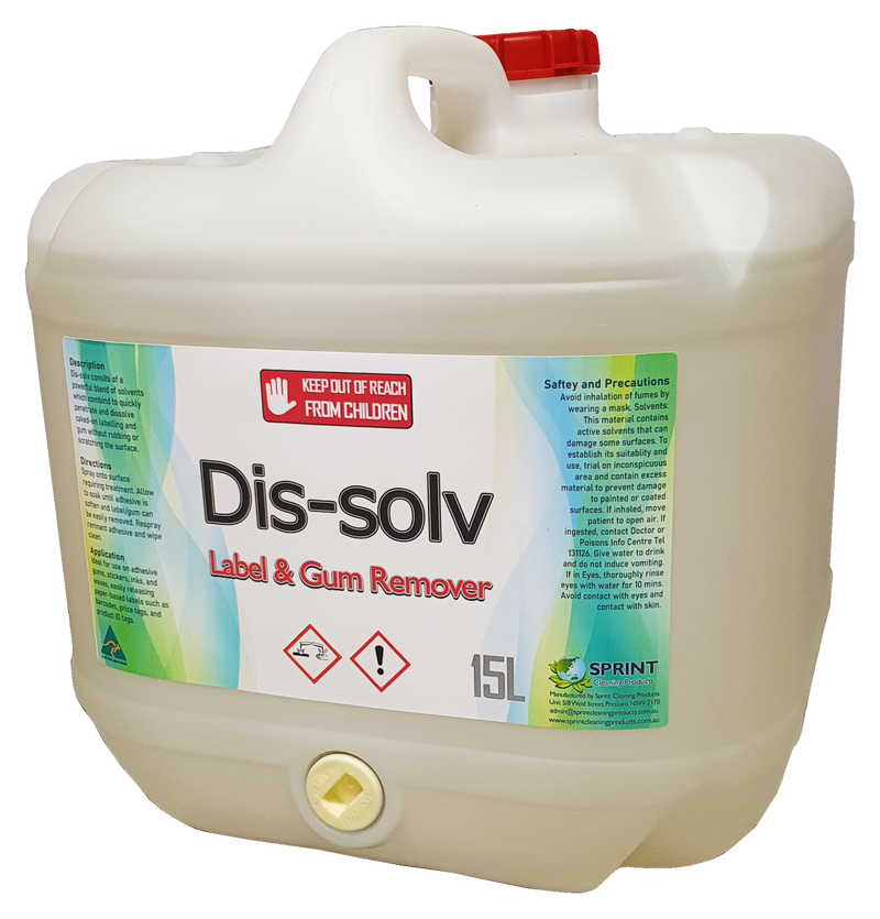 Dissolv - Label & Gum Remover - Sprint Cleaning Products
