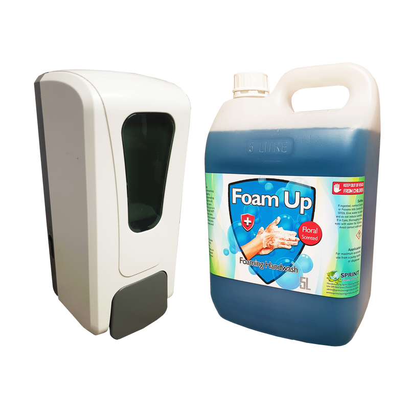 Foaming Dispenser With Foaming Handwash Package Deal - Sprint Cleaning Products