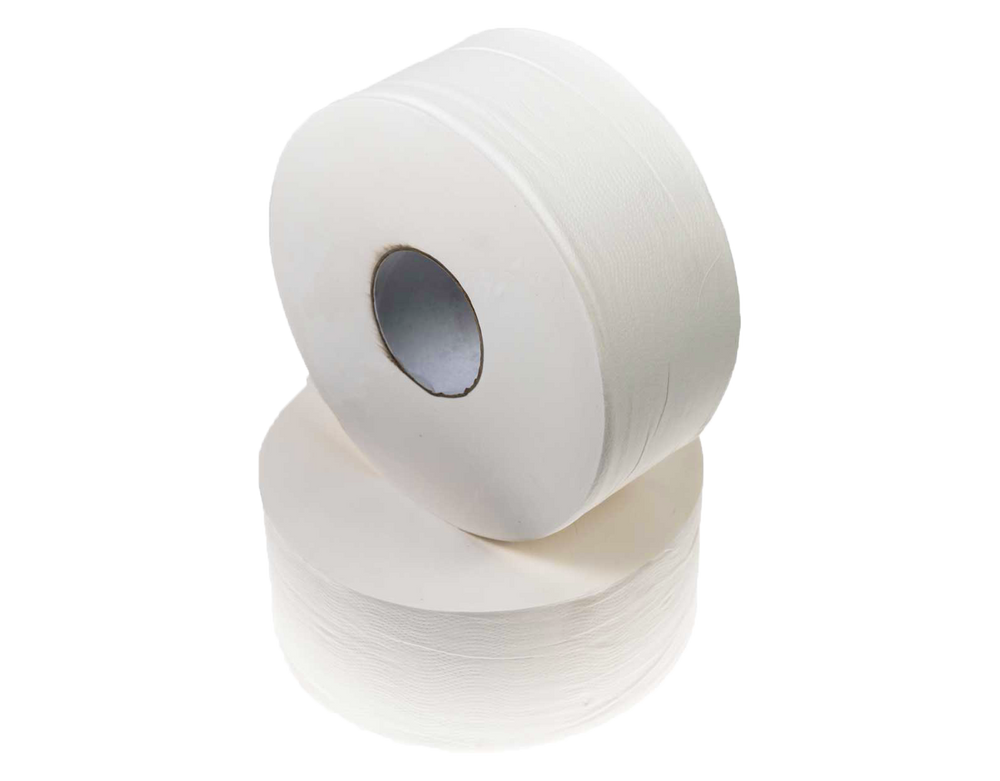 Jumbo Toilet Paper Roll - 2 Ply 300 Metre x 8 Rolls - Sprint Cleaning Products