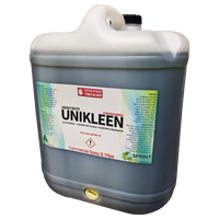 CONCENTRATED SPRAY & WIPE - Unikleen is a powerful liquid cleansing agent which removes all soils from all surfaces, all cleaning operations, quickly and without effort.