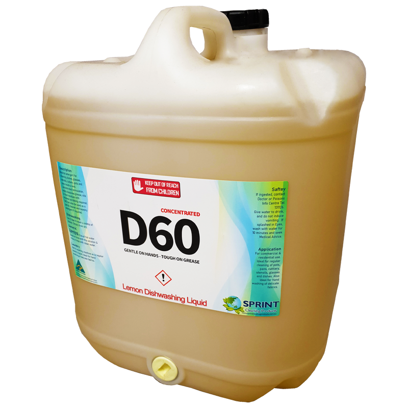 D60 - Lemon Dishwashing Detergent - Sprint Cleaning Products
