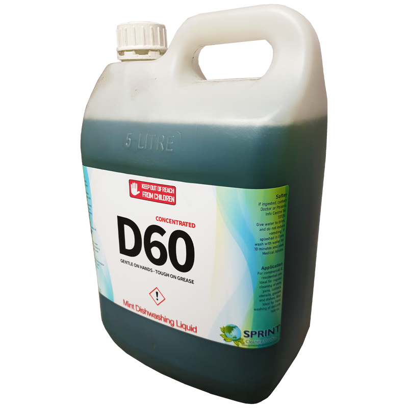 D60 - Mint Dishwashing Detergent - Sprint Cleaning Products