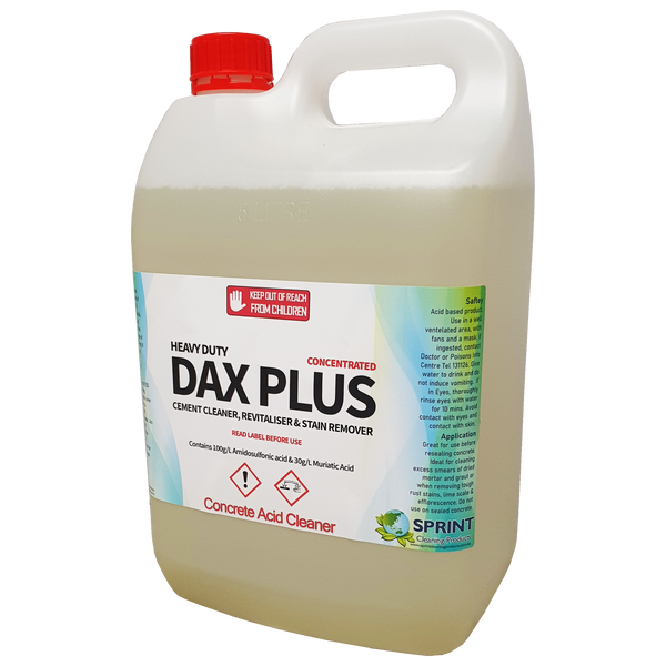 Dax plus is a water soluble, powerful and fast acting surface cleaner, designed for stain removal & cleaning of porcelain, quarry & ceramic tiles. Tiles have tiny holes which dirt collects & give a dull appearance. DAX PLUS has a powerful cleaning & penetrating action, drawing soiling out of tiles leaving them in a brand new condition.