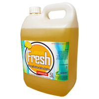 Lemon scentedContains biodegradable surface-active detergents with high levels of germicidal compounds for cleaning and deodorising floors and toilet areas. Kills germs and cleans effectively, leaving washable surfaces hygienically clean.