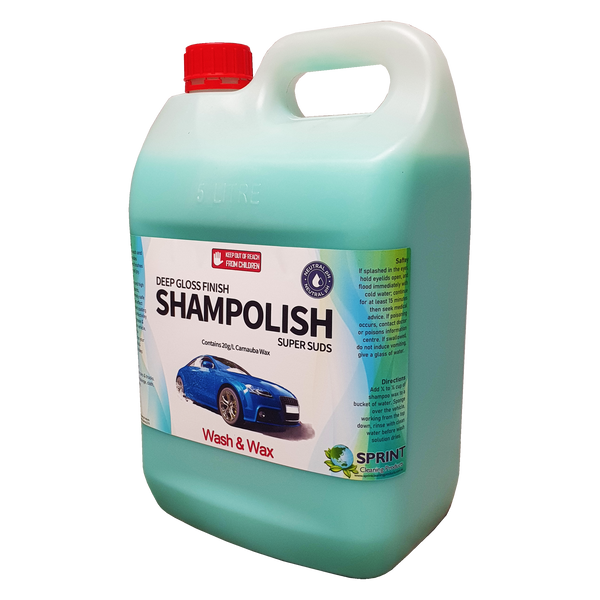 Shampolish has been created using synthetic polymer technology immersed into a complex wash to provide authentic waxed finishes. High foaming formula removes dirt, grease & grime, leaving wax protection on your paintwork. glass & wheels for that deep glossy finish.