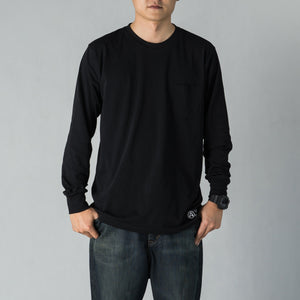 BLACK LONG SLEEVE TEE
