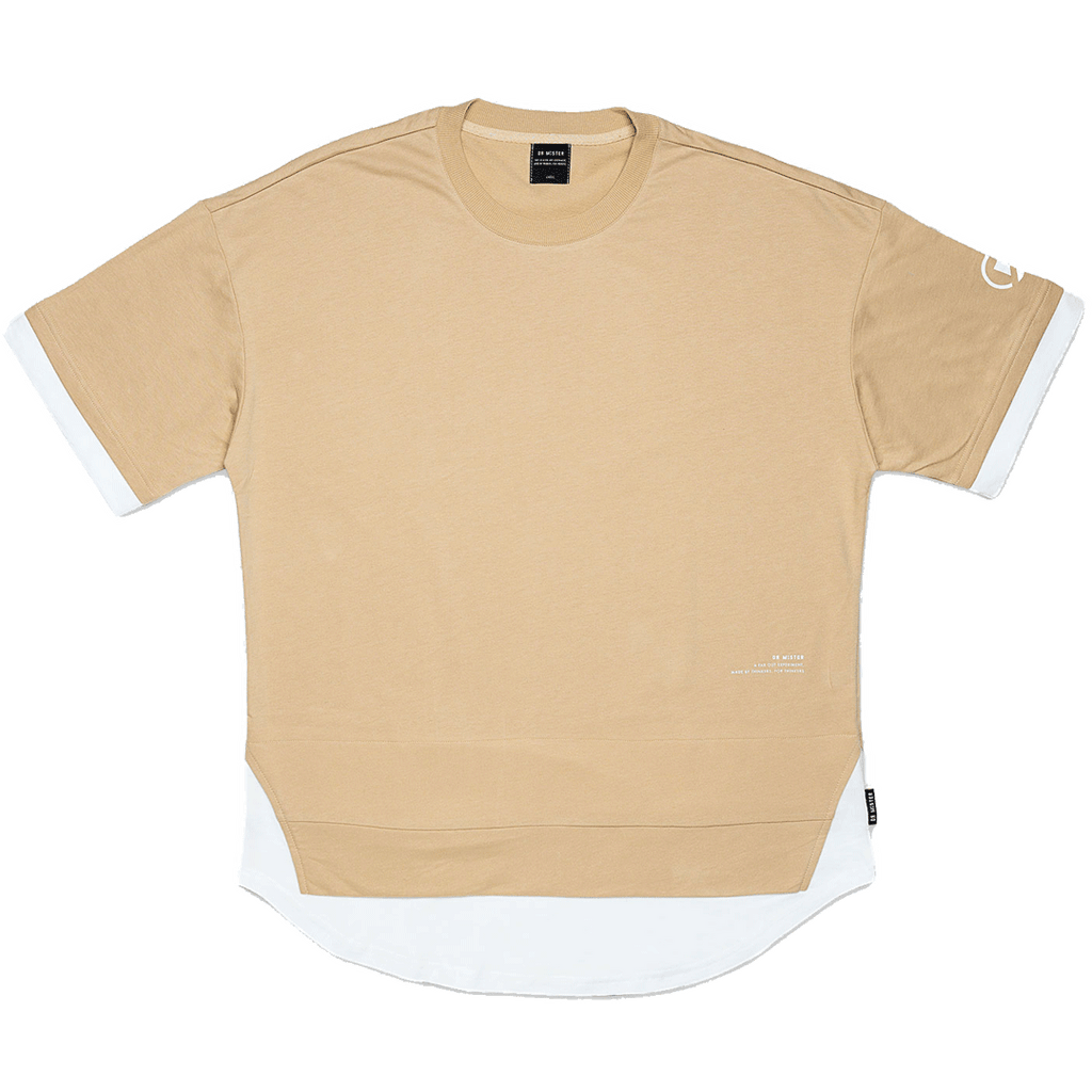 """ESSENTIAL"" SCALLOP LAYER OVERSIZED T-SHIRT"