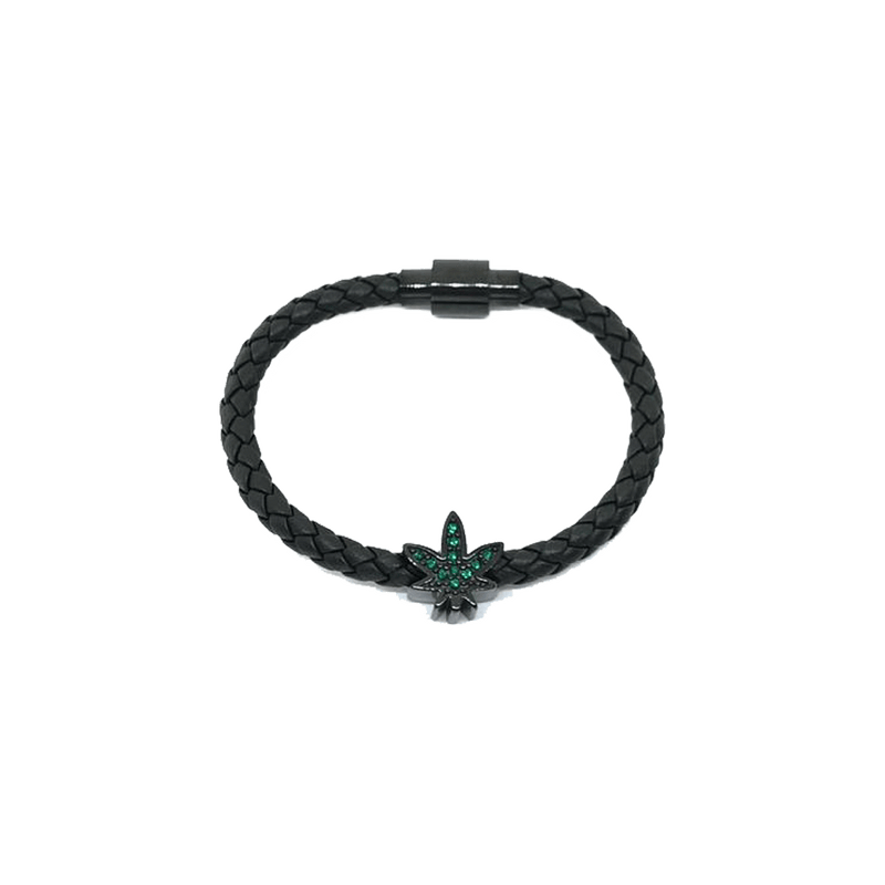 THE GREEN V2 LEATHER BRACELET BLACK