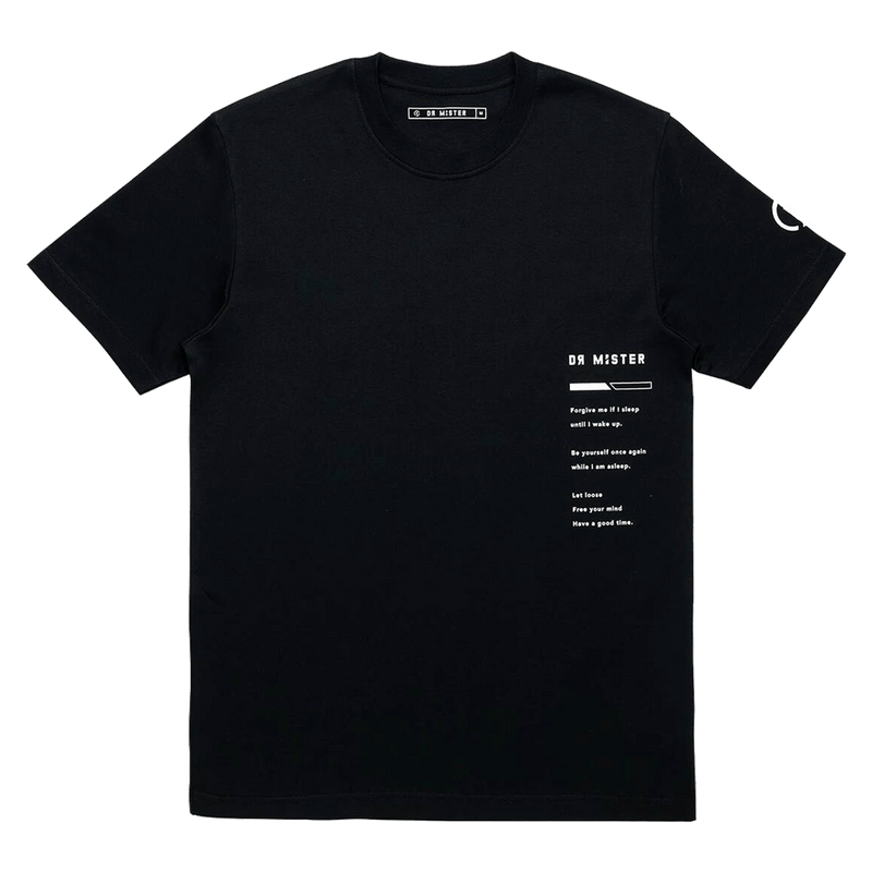 'GOOD TIME AT EASE'' SLEEPING ANGEL T-SHIRT (BLACK)