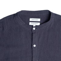 LS STRIPED SHIRT (NAVY)
