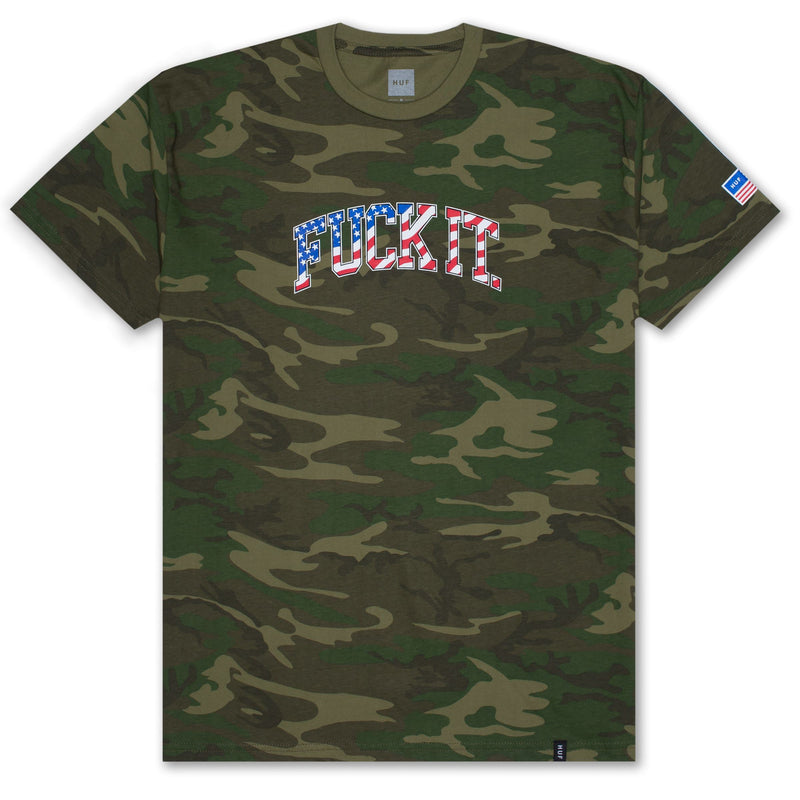 FUCK IT CAMO FLAG S/S TEE WOODLAND CAMO