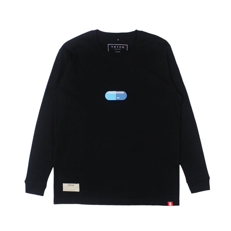 PILL LONG SLEEVE TEE BLACK
