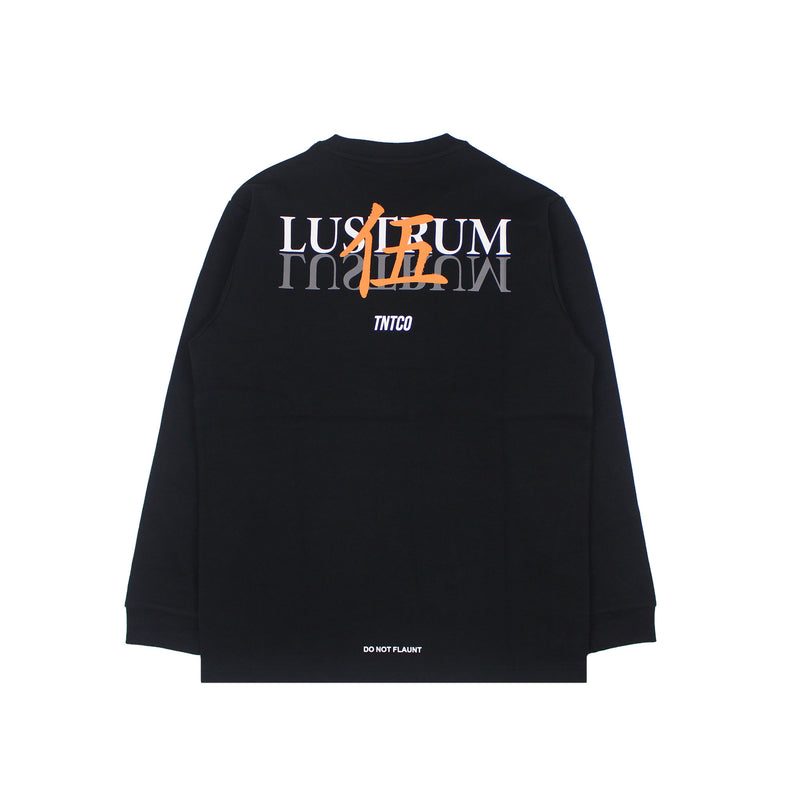 LUSTRUM LONG SLEEVE TEE BLACK