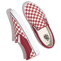 VANS CLASSIC SLIP-ON (CHECKERBOARD) RUMBA RED