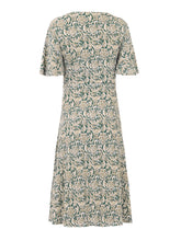 Load image into Gallery viewer, PRE-ORDER Twist Front Midi Jersey Dress, Green Pattern