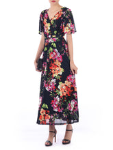 Load image into Gallery viewer, Printed Mesh Maxi Dress