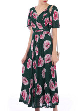Load image into Gallery viewer, Copy of Printed Mesh Maxi Dress