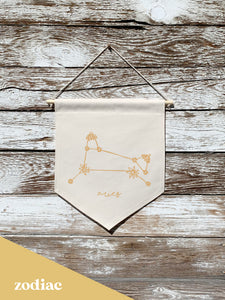 aries zodiac constellation flag banner