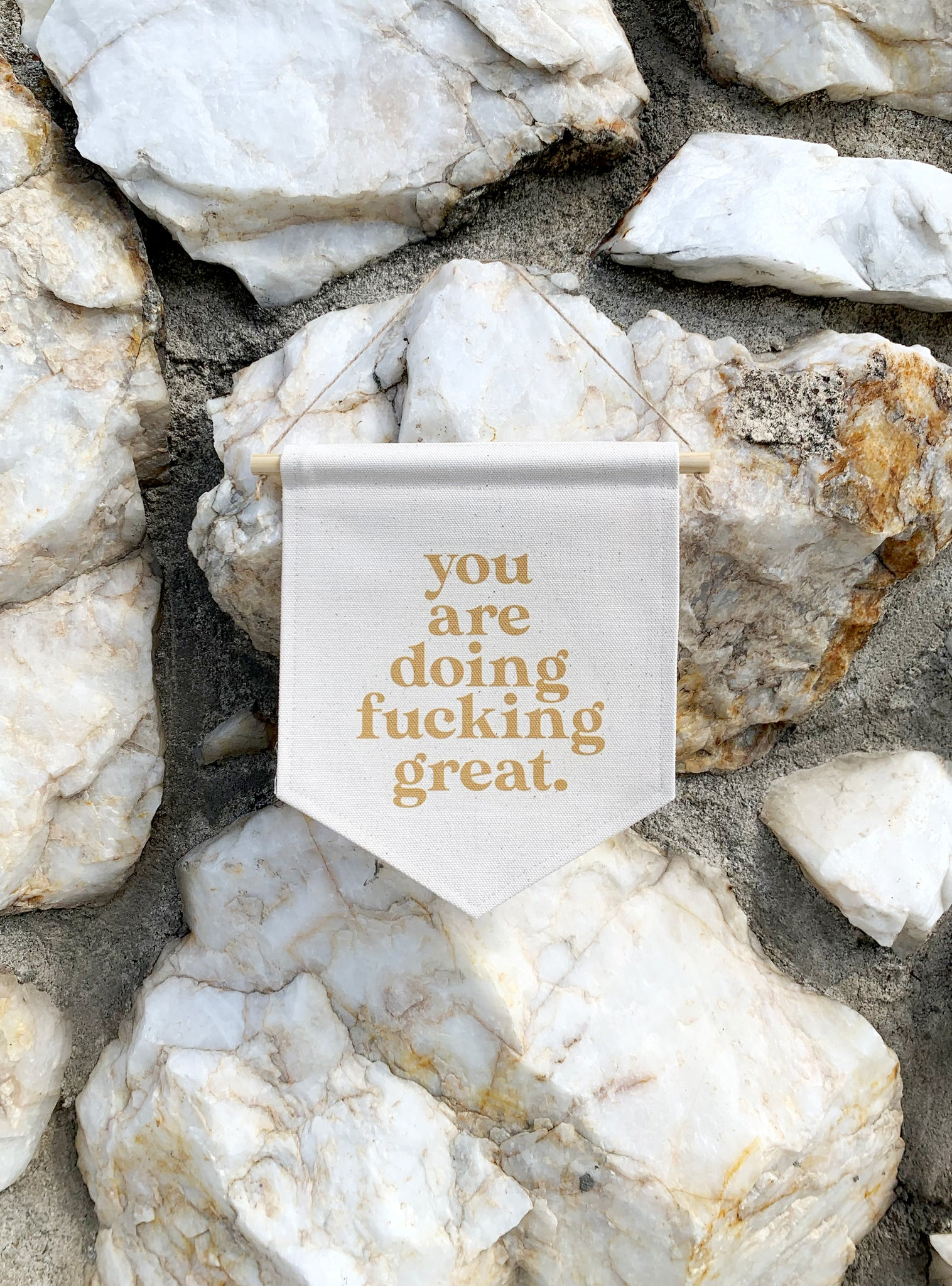 you are doing fucking great
